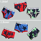 "3Pcs NEW Vaenait Baby Kids Boy Clothes Underwear Boxer Briefs Pantie""Big Star"""