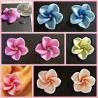 MAGNETIC Large Flower Rhinestone Stud Fimo Clay Clip on Fake Earrings 1 Pair#M48