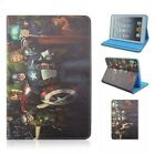 Folding Flip Cute Cartoon Kids Marvel Super Hero Leather TPU Case Cover For iPad