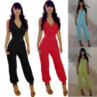 Women Sexy V-Neck Waisted Rompers Evening Casual Clubwear Jumpsuits Playsuit