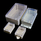 Waterproof Clear Plastic Electronic Instrument Case Project Enclosure Box Cover