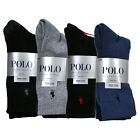 Polo Ralph Lauren Socks Mens Four Pack Crew Embroidered Pony Logo New