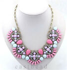 2015 New Fashion Crystal Chunky Statement Chain Choker Necklace Party Jewelry