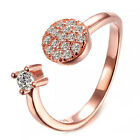 Hot Fashion 925 Silver Crystal Rhinestone Opening Adjustable Rings Gift New