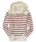 Aeropostale Mens Striped Full Zip Hoodie Sweatshirt
