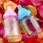 36pcs Mini Blue/Pink Baby Bottle Baby Shower Favours / Christening Gift