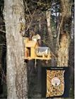 Cedar Squirrel Feeder w/Gallon Glass Jar (optional dual corn holder)