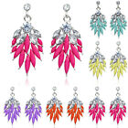 Bohemian Style Fashion Lady Attractive Resin Rhinestone Earring Stud Low-Priced