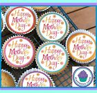 24 MOTHERS DAY DESIGN 2 EDIBLE CUP CAKE TOPPER PREMIUM WAFER PAPER or ICING