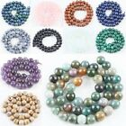 Crystal Natural Gemstone Round Loose Beads Amethyst/Opal/Quartz/Agate Stone 15'L