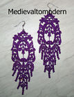 """NEW~~Hand Made LONG Your Color Lacy Light Venise Lace Victorian Earrings NEW 5"""""""
