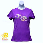 LADIES FORD MUSTANG PONY GIRL PURPLE TEE SHIRT