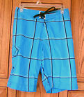 Billabong Platinum X PX:4 Stretch-O-Meter Blue Black Stripe Blue Board Shorts RE