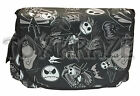 "NIGHTMARE BEFORE CHRISTMAS CANVAS MESSENGER! JACK SKELLINGTON SCHOOL BAG 16"" NWT"