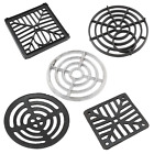 Grate Man Hole Gully Cover Black Cast Alloy Plastic Round Square Drain Grid