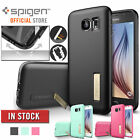 Galaxy S6 Case,Genuine SPIGEN Capsule Solid Cover with Kick Stand for Samsung S6
