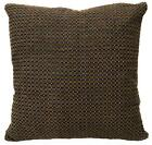 Ng10a Brown Lt. Brown Checker Thick Linen Cushion Cover/Pillow Case Custom Size