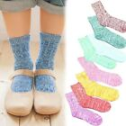 Fashion 1 Pair Womens Retro National Wind Cotton Socks  Warm Thick Thick Lines