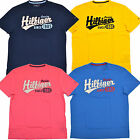 Tommy Hilfiger Mens T-Shirt Crew Neck Graphic Tee Novelty Navy Blue Pink Th Nwt