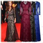 US Stock Womens Long Vintage Lace Formal Ball Gown Bridesmaid Evening Full Dress