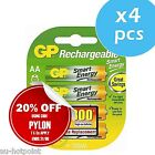 4x GP Rechargeable AA Smart Energy NiMH HR6 1000mAh Battery Pack NEW+TAX INVOICE