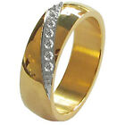 Nice Blingbling Seven AAA CZ Stainless Steel 8mm Men's Wedding Ring Band