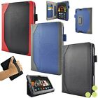 """caseen Amazon Kindle Fire HDX 7"""" Inch Tablet Genuine Leather Case Smart Cover"""