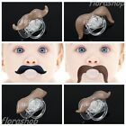 Funny Baby Infant Pacifier soother The Cowboy Gentleman Mustache Beard Nipples