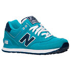 New Balance WL574POA: Pique Polo Pack 574 Casual Shoes Aqua Marine Women's Size