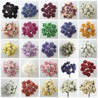 Bunch 12 Paper Tea Rose Flower Buds with stems Spray Favour Craft Decoration