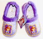 SOFIA the FIRST PRINCESS DISNEY Plush Faux-Fur Slippers NWT Sizes 9/10 or 11/12