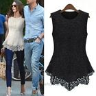 1PCS Ladies Women Lace Blouse Sleeveless shirt vest Doll Chiffon Tops S M-XXXL