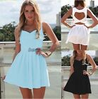 Sexy Women's Cocktail Party Evening Bandage Mini Dress Summer Beach Skirts