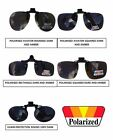 Clip On Flip Up Sunglasses Driving Polarized Polarised Holiday 100% UV Protect
