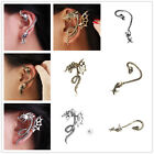 Punk Vintage Temptation Antique Gothic skull snake/Dragon Ear Cuff Stud Earring