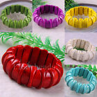 """Free Shipping Multi-color Turquoise Beads Stretch Bracelet 8"""" 1Pcs LH555-1186"""