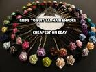 6 ROSE GRIPS 30 COLOURS HAIR PINS ACCESSORIES WEDDING KIRBY FLOWER