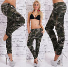 Sexy Women's Camouflage Boyfriend Jeans Hipsters Military Pants HOT Size 6-14