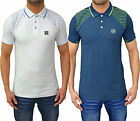 Mens Designer Foray Polo T Shirt Printed Stripes Jersey Pique Top Pressure Tee