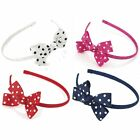 Polka Dot Bow Headband Diadema Accesorio Cabello - Elige Tu Color