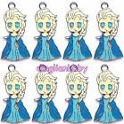 Lot Cartoon Princess Charm Metal Charms Jewelry Make pendants Party Gift U84