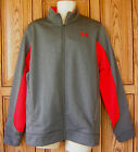 Under Armour UA Men's ColdGear Loose Fit Red Gray Zip Track Jacket 1248905 090