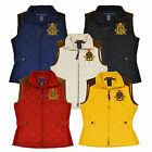 Ralph Lauren Womens Quilted Puffer Vest Large Crown Crest Logo Jacket New