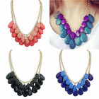 Hot Delicate Crystal Bib Statement Pendant Choker Necklace Chain Jewelry Party