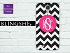 Monogram black chevron personalized Samsung Galaxy case for S3 S4 S5 N2 N3 mn002