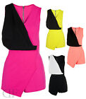 NEW WOMENS LADIES CONTRAST SKORT PARTY PLAYSUIT (SIZES 8-14)