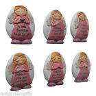 Guardian Angel Pebbles - Pocket Size - Various Inscriptions - Pink - Sparkly