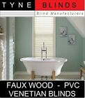 FAUX WOOD with cords - SNOW white - wood effect pvc VENETIAN blinds