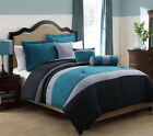 6 Piece Tranquil Teal and Gray Comforter Set