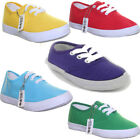 7141 Infant Trainers Lace Up Plimsole Flat sole Pumps Kids Trainers